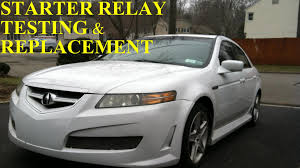 acura tl starter relay test and replacement youtube