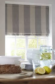 Blue And White Kitchen 15 Best Ideas Blue And White Striped Roman Blinds Curtain Ideas