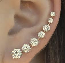 ear pin pin ooh la la sterling silver or 14k by chapmanjewelry
