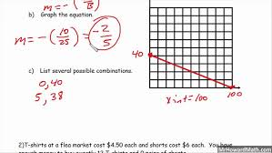 5 standard form today we will use to graph a line the is linear