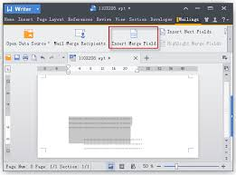 templates for wps office android wps office using mail merge to print envelopes