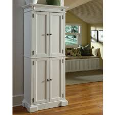Pantry Cabinet Organizer White Wooden High Storage Cabinet Organizer With Double Swing Door