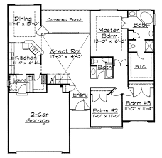 traditional style house plan 3 beds 2 baths 1691 sq ft plan 31