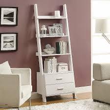 wallpaper that looks like bookshelves lean against the wall shelves best of furniture ladder like