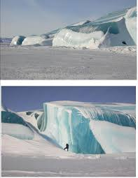 Frozen Waves The Lake Michigan Amazing Striped Icebergs The Scoop Newspaper