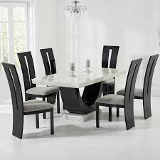 Dining Table And 6 Chairs Cheap Riviera And Black Marble Dining Table With 6 Chairs Robson