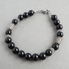 bracelet man onyx images 8mm black onyx gemstone bracelet for men sterling jpg