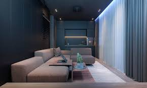 darkish moody bachelors pad style 2 solitary bedroom l shaped