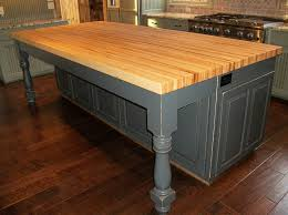 wood tops for kitchen islands pine wooden top butcher block island with grey color base leg also