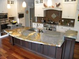 kitchen island overhang kitchen islands with granite countertops modern waterfall countertop