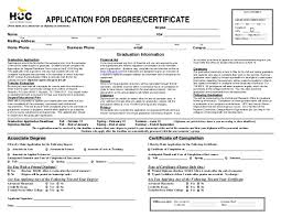 apply for degree or certificate