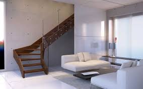 Stair Cases Contemporary Open Wooden Frame Staircases With Glass Railing By
