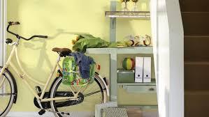 use crisp colours to brighten dark halls interior and exterior