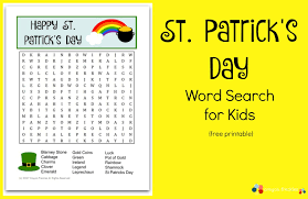 Halloween Word Search Free Printable Crayon Freckles St Patrick U0027s Day Word Search For Kids Free
