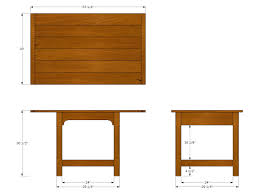 Woodworking Plans Coffee Table Legs by Apartment Dining Table Plan Orthographic Views Jeff Branch