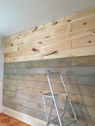 how to plank and paint a wall on a budget front porch mercantile