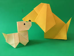 paper folding project for kids how to make a origami paper dog