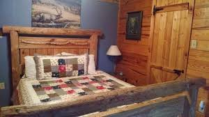 wind riders master bedroom w king log bed picture of blue smoke