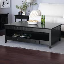coffee tables attractive new large dark square contemporary wood