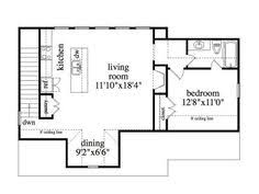 small budget garage apartment plan gar 1430 ad sq ft small