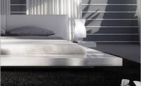 White Gloss Furniture Modrest Opal White Gloss Platform Bed