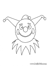 clown mask coloring pages hellokids