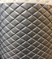 vinyl upholstery silver metallic quilted fabric with 3 8