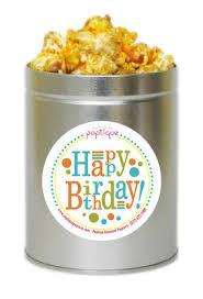 happy birthday 1 quart popcorn tin poptique popcorn