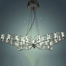 Butterfly Chandelier Modern Steel Art And Crystal Chandelier 9406 Browse Project