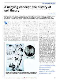 a unifying concept the history of cell theory pdf download
