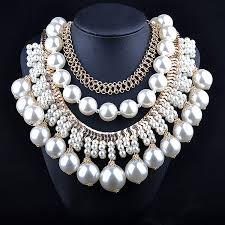 big fashion statement necklace images Wholesale fashion multilayer big pearl statement necklace tassel jpg