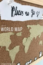 Diy World Map by Diy World Map Wall Decor U2013 Smidgen Of Delight