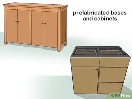 outdoor kitchen cabinet doors diy how to build an outdoor kitchen with pictures wikihow