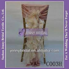 Cheap Chair Sashes C304a2 Dusty Pink Romantic Ruffles Chiffon Cheap Chair Covers