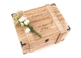 engraved box personalised engraved wedding wooden keepsake memory chest box for