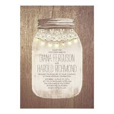 jar wedding invitations rustic jar wedding invitations zazzle