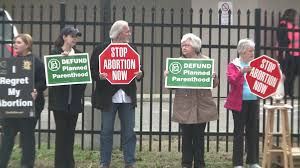 pro life supporters protest outside memphis planned parenthood