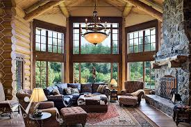 luxury log home interiors amazing log cabin living room also modern home interior design