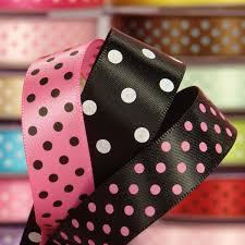 polka dot ribbon satin polka dot ribbons