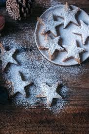 almond cinnamon christmas cookies stars vegan and gf