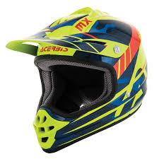 kids motocross helmet acerbis kids helmet impact 3 0 blue fluo yellow 2017 maciag offroad
