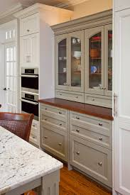 China Cabinet In Kitchen Captivating Grey Color Kitchen China Cabinets With Glass Door