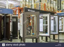 display of window treatments at home depot massachusetts stock