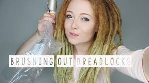 hairstyles after dreadlocks brushing out some dreadlocks after 2 years youtube