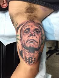 realistic portrait old man face tattoo by matti hixson golfian com