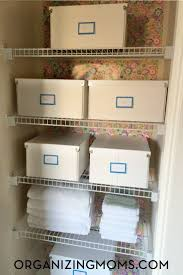 62 best organizing the linen closet images on pinterest linen