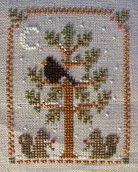 woodland 2 cross stitch tree christmas ornament and cross stitch