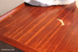 How To Repair Laminate Floor Scratches Diy Makeover For Mid Century Modern Teak Furniture