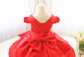 red flower dress for baby girls v neck infant easter