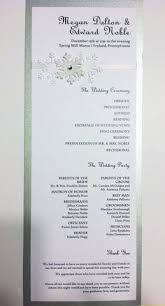 wedding programs sles creative wedding programs wedding programs program design and